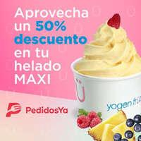 50% de descuento en helado Maxi