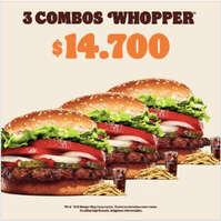 3 combos whopper
