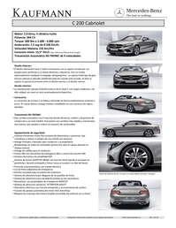 C 200 Cabrio Fl - Motor 2.0