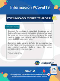 Cierre Temporal #Covid19
