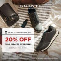 20% off en todos los zapatos informales