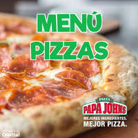 Menú Pizzas