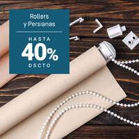 Rollers y persianas hasta 40% de dcto