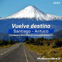 Desde hoy vuelve ruta Antuco Santiago y viceversa