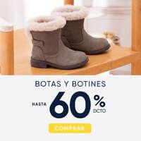 Botas y botines hasta 60% off