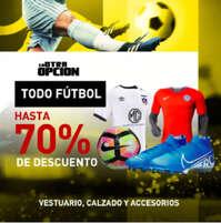 Todo fútbol hasta 70%