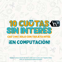 10 cuotas sin intereses