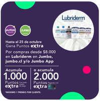 Puntos extras con Lubriderm
