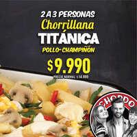 Chorrillana Titánica pollo-champiñón precio rebajado