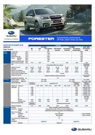 Especificaciones Forester