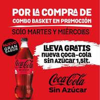 Combo Basket en promoción con Coca Cola sin azúcar