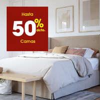 Hasta 50% off en camas