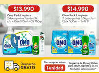Omo Pack Limpieza precio especial