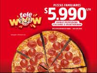 Promo pizzas familiares
