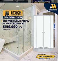 Shower Curvo prefil blanco