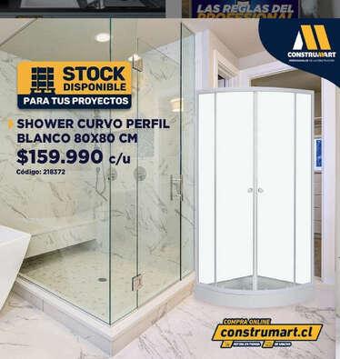 Shower Curvo prefil blanco- Page 1