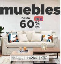 Muebles hasta 60% de dcto