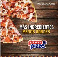 Nuestras pizzas tienen menos bordes