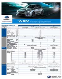 Especificaciones WRX