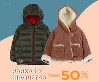 Parkas y chaquetas con 50% dcto
