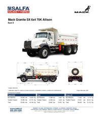 Mack Granite SX 6x4 70K Allison