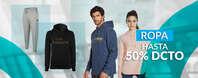Hasta el 50% de descuento en ropa deportiva