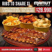Ribs to share XL