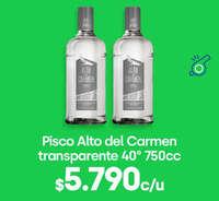 Pisco Alto del Carmen a $5.790.-