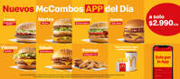 Nuevos McCombos App del día